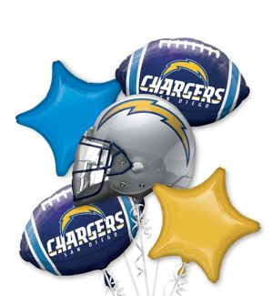 San Diego Chargers Balloon Bouquet 5pc