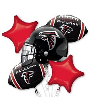 Atlanta Falcons Balloon Bouquet 5pc