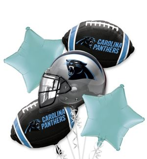 Carolina Panthers Balloon Bouquet 5pc