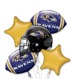 Baltimore Ravens Balloon Bouquet 5pc
