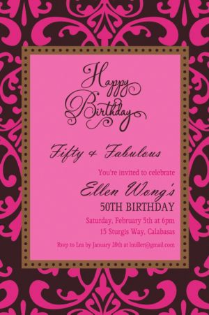 Custom Fabulous Celebration Invitation