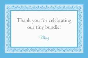 Custom Celebrate Baby Boy Thank You Note