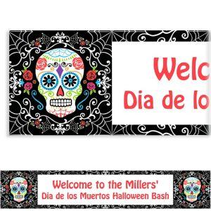 Custom Day of the Dead Banner