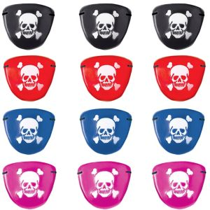 Colorful Pirate Eye Patches 12ct