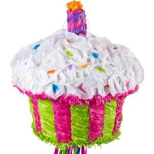 Pull String Birthday Cupcake Pinata