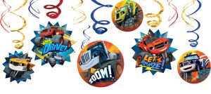 Blaze and the Monster Machines Swirl Decorations 12ct