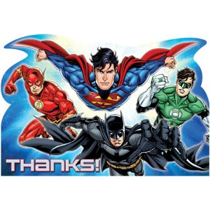 Justice League Thank You Notes 8ct