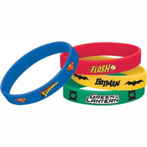 Justice League Wristbands 4ct
