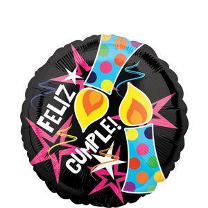 Feliz Cumpleanos Balloon - Dots & Stars