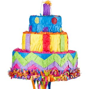 Pull String Birthday Cake Pinata