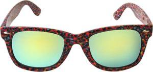 Colorful Cheetah Mirrored Sunglasses