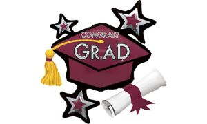 Berry Star Graduation Cap Balloon