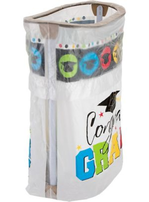 Multicolor Graduation Pop-Up Trash Bin