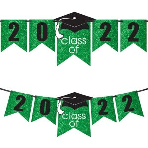Glitter Green Graduation Year Banner Kit - Congrats Grad
