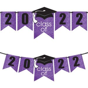 Glitter Purple Graduation Year Banner Kit - Congrats Grad