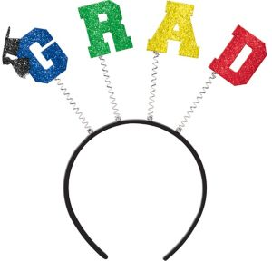 Glitter Multicolor Graduation Head Bopper