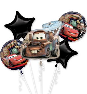 Tow Mater Balloon Bouquet 5pc - Cars