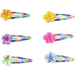 Hibiscus Hair Clips 6ct