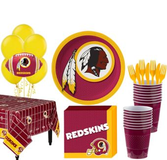 Washington Redskins Super Party Kit for 18 Guests