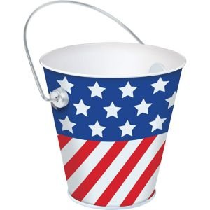 Patriotic Metal Pail