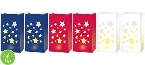 LED Patriotic Luminaries 6ct