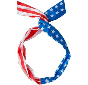Patriotic American Flag Rockabilly Head Scarf