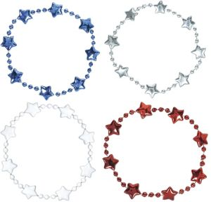 Patriotic Bead Bracelets 4ct