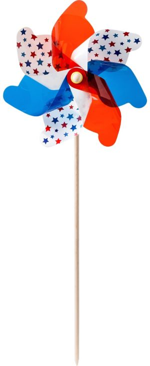 Red, White & Blue Stars Pinwheel Yard Stake