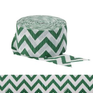 Festive Green Chevron Streamer