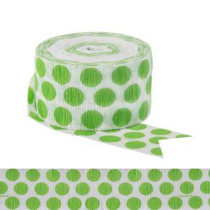 Kiwi Green Polka Dot Streamer