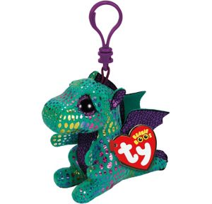 Clip-On Cinder Beanie Boo Dragon Plush