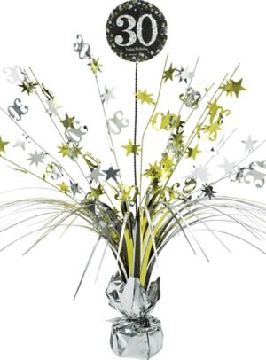 30th Birthday Spray Centerpiece - Sparkling Celebration