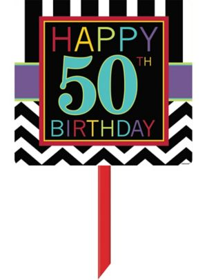 Celebrate 50th Birthday Yard Sign