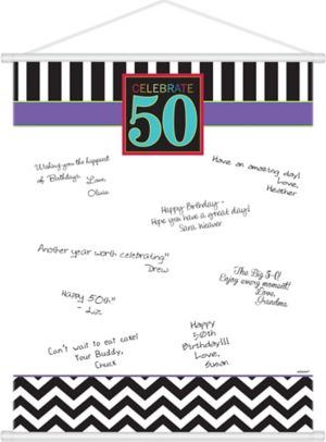 Celebrate 50th Birthday Sign-In Sheet