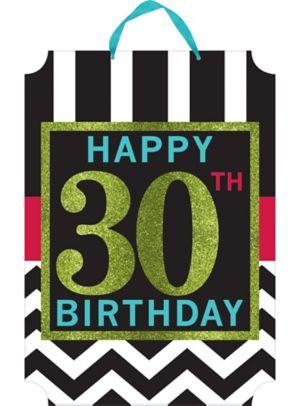 Glitter Celebrate 30th Birthday Sign