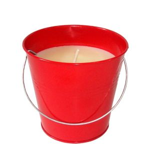 Red Citronella Candle Pail