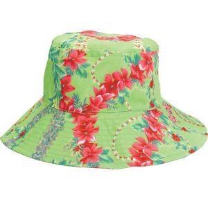 Green Hibiscus Bucket Hat