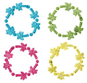 Palm Tree Bead Bracelets 4ct