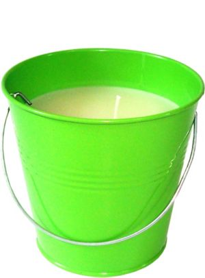 Large Kiwi Green Citronella Candle Pail