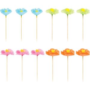 Tropical Flower Party Picks 12ct