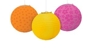 Warm Summer Paper Lanterns 3ct