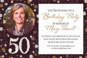 Custom Sparkling Celebration 50 Photo Invitation