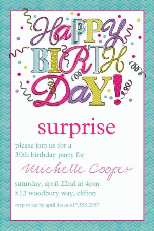 Custom Sweet Party Invitation
