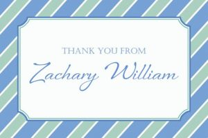 Custom Simple Cross and Stripes Thank You Note