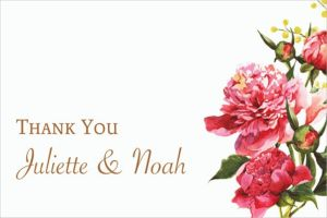 Custom Delicious Bouquet Thank You Note