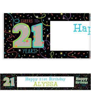 Custom Brilliant 21st Birthday Banner