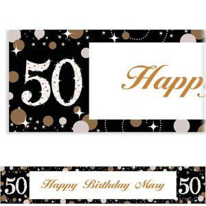 Custom Sparkling Celebration 50 Banner