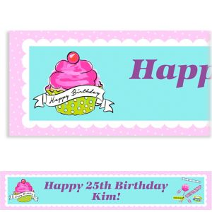 Custom Birthday Sweets Banner
