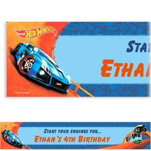 Custom Hot Wheels Wild Racer Banner
