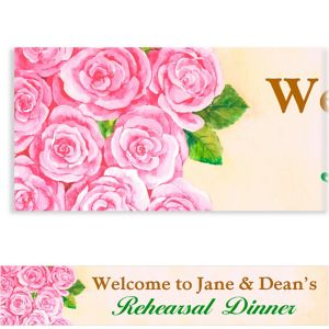 Custom Bundled Roses Banner